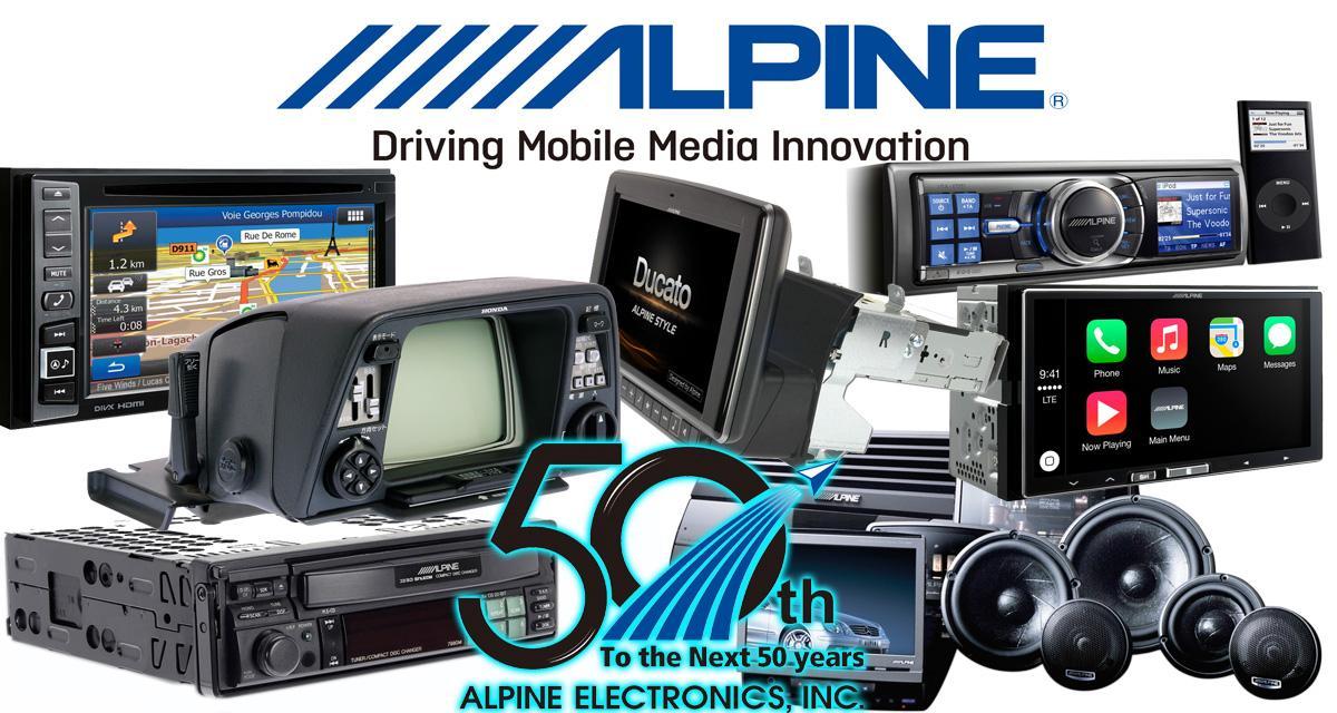 Alpine Electronics fête ses 50 ans d'innovation dans la hi-fi et le multimédia embarqué