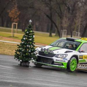 Pour Noël, Skoda a offert des tours dans sa Fabia R5 ''Taxi''