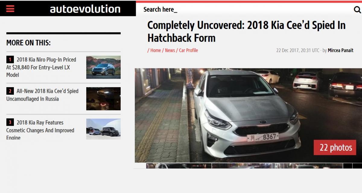 La future Kia Ceed se dévoile avant l'heure