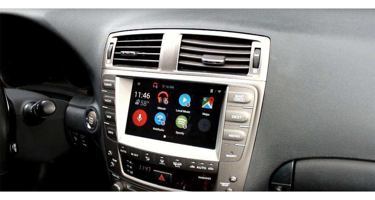 Un ordinateur Android « plug and play » sur l'autoradio d'origine de certaines Lexus