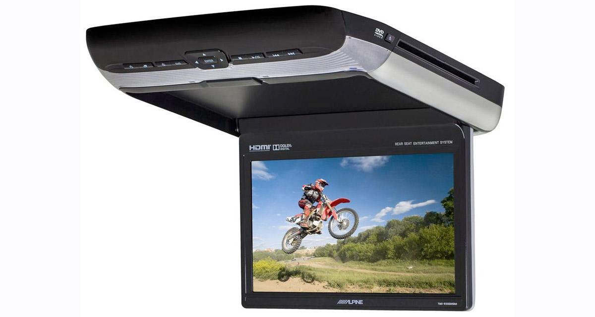 Alpine Electronics commercialise un écran plafonnier avec entrée HDMI