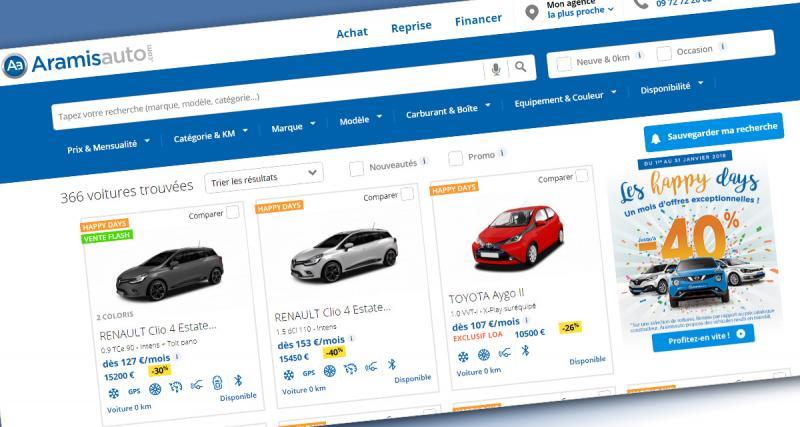 Aramis Auto: jusqu'à - 40% sur une sélection de modèles