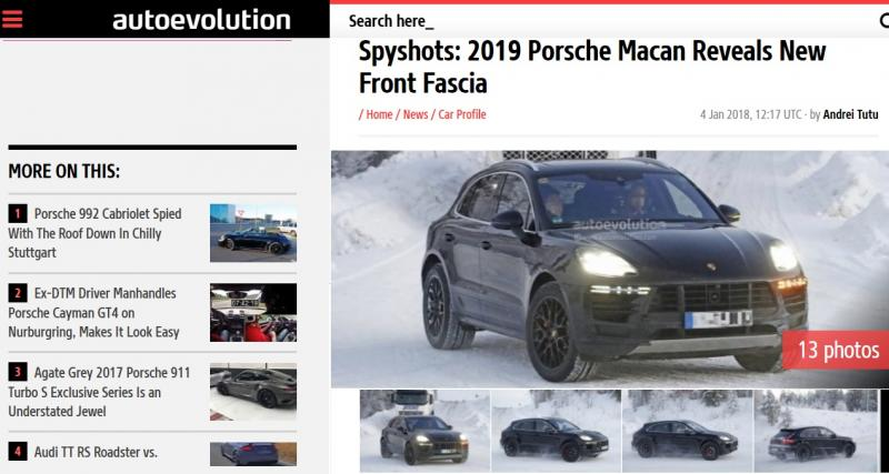 Le Porsche Macan restylé déjà sur la route