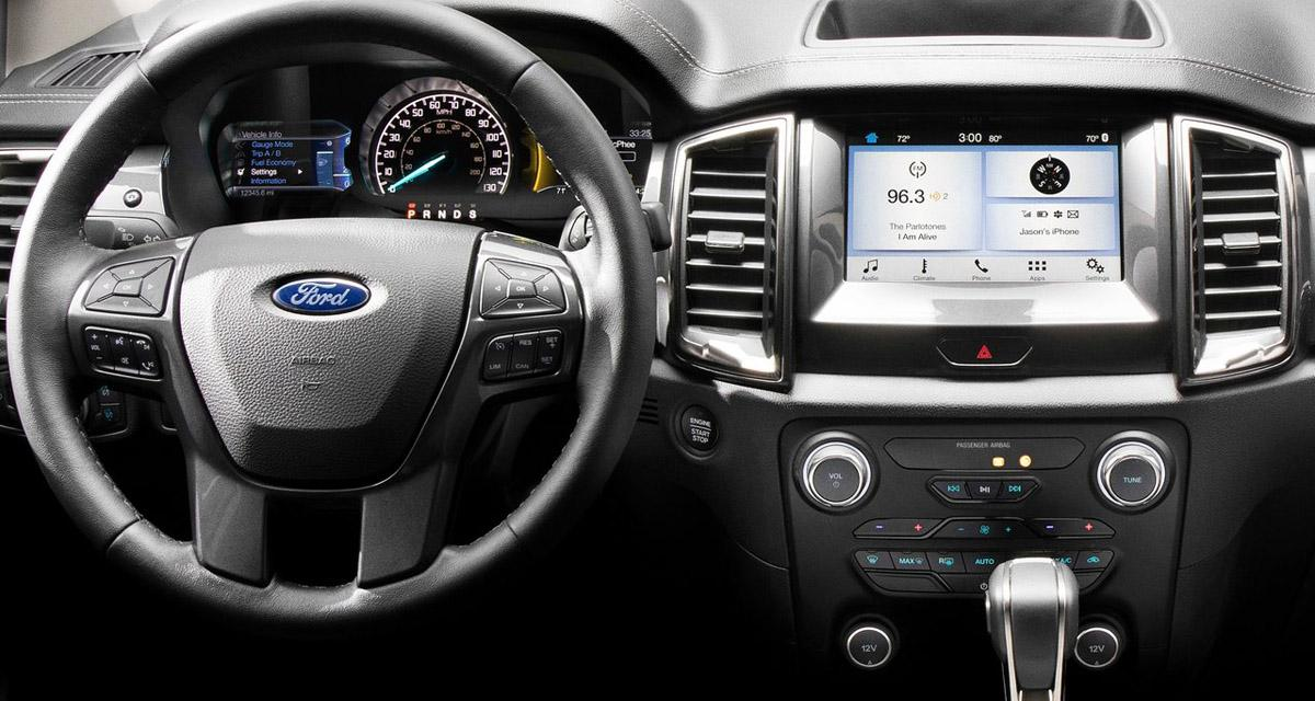 Le Ford Ranger, version USA, adopte le CarPlay et un système hi-fi B&O