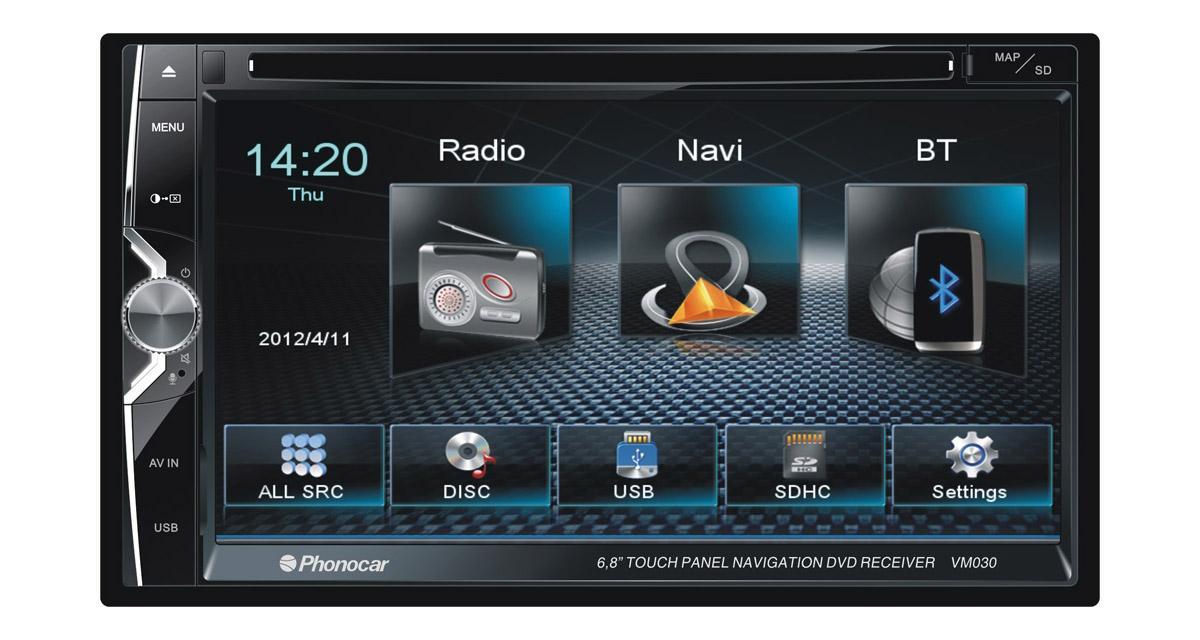 Phonocar présente un nouveau combiné multimédia avec connectivité Smartphone
