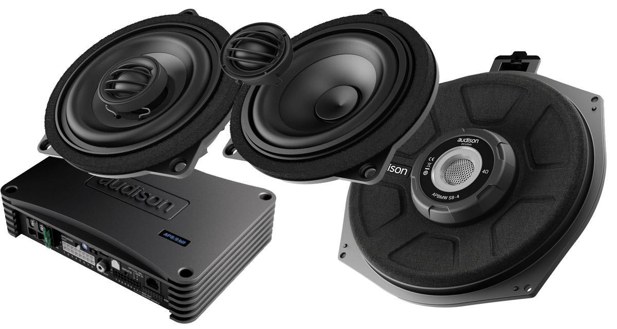 Audison propose des packs hi-fi spécifiques pour les Mini