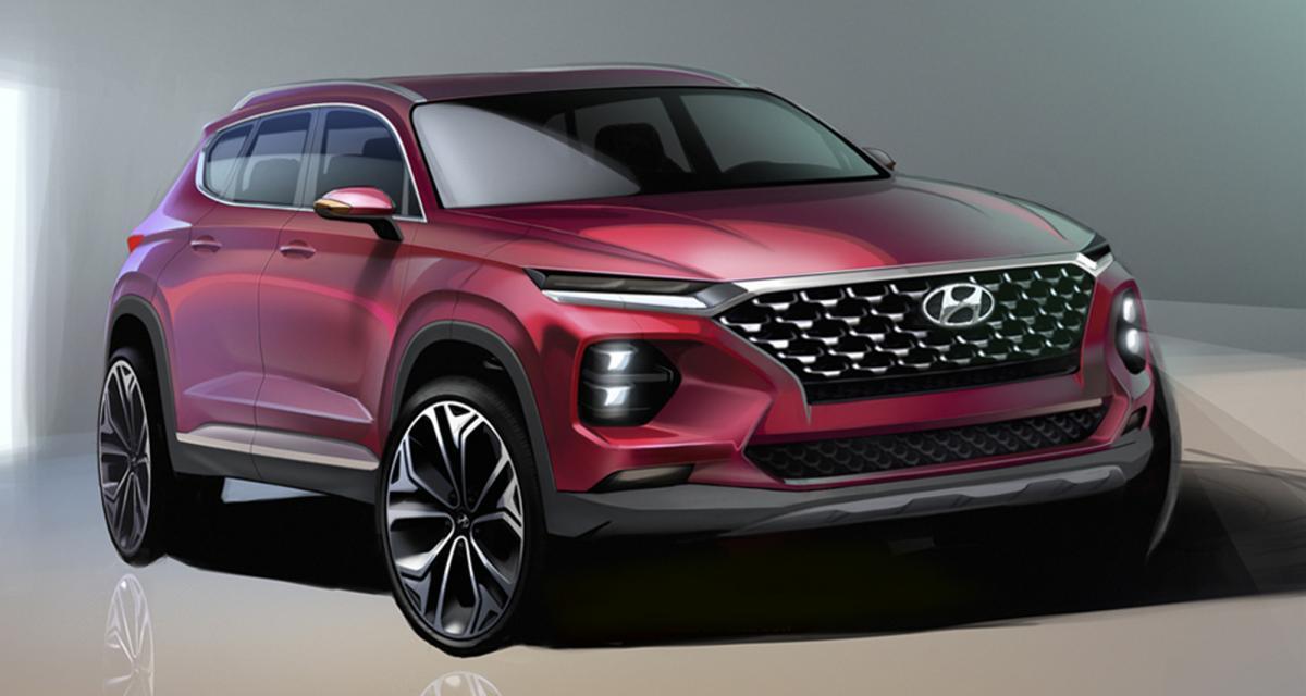 Nouveau Hyundai Santa Fe : des croquis avant la présentation à Genève