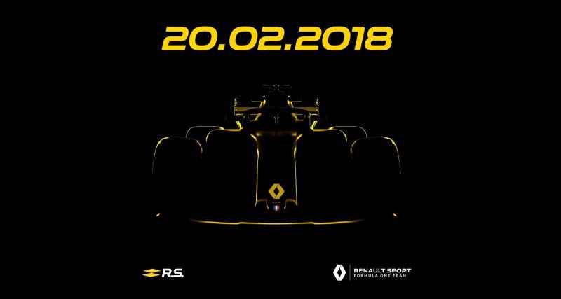 Renault R.S.18 : la F1 du losange présentée le mois prochain
