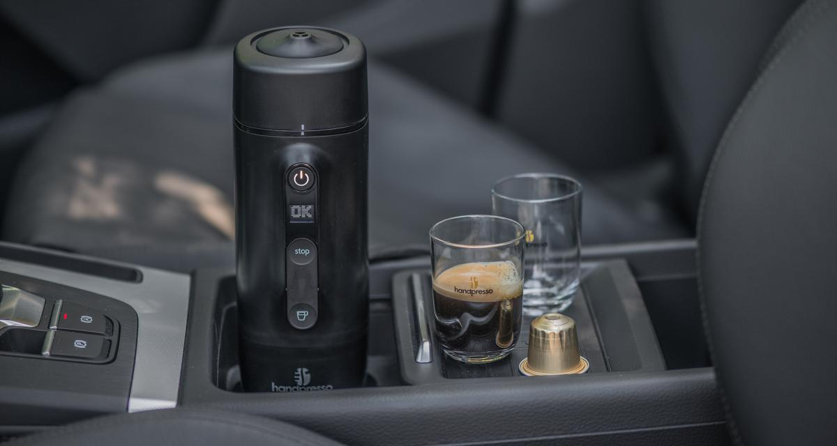 handpresso auto capsule machine caf pour voiture compatible nespresso. Black Bedroom Furniture Sets. Home Design Ideas