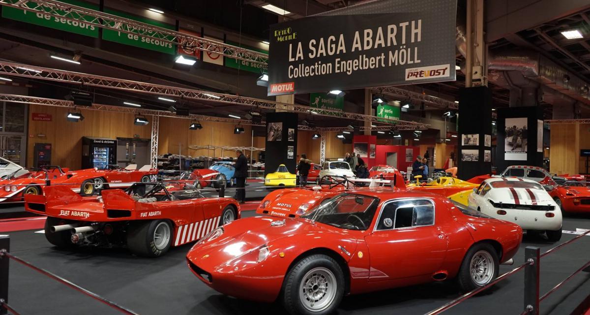 Abarth a fait les choses en grand au salon Rétromobile 2018