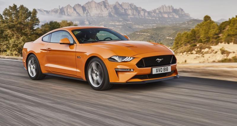Ford Mustang restylée : les tarifs plombés par le malus écologique