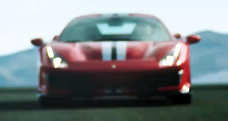La Ferrari 488 GTO (presque) en vidéo