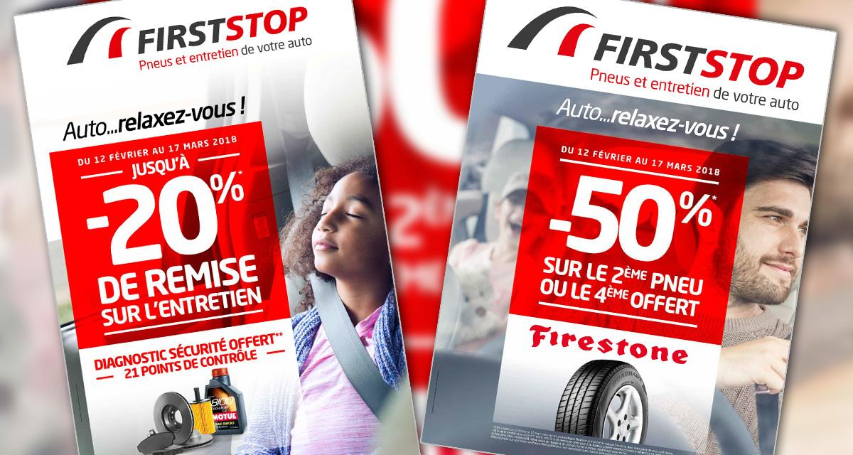 First Stop: promos sur l'entretien général et les pneumatiques Firestone
