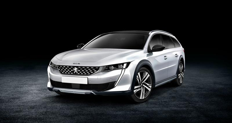 peugeot 508 sw et rxh les images non officielles. Black Bedroom Furniture Sets. Home Design Ideas