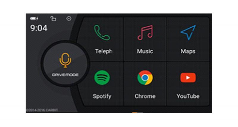 Une interface simplifiée permet d'utiliser les applications du Smartphone Android