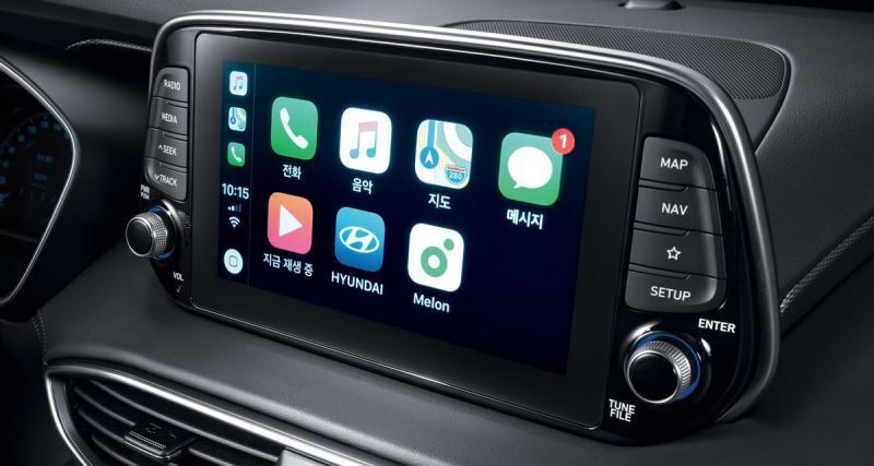 Le nouveau Hyundai Santa Fe intègre le CarPlay et un système hi-fi Infinity