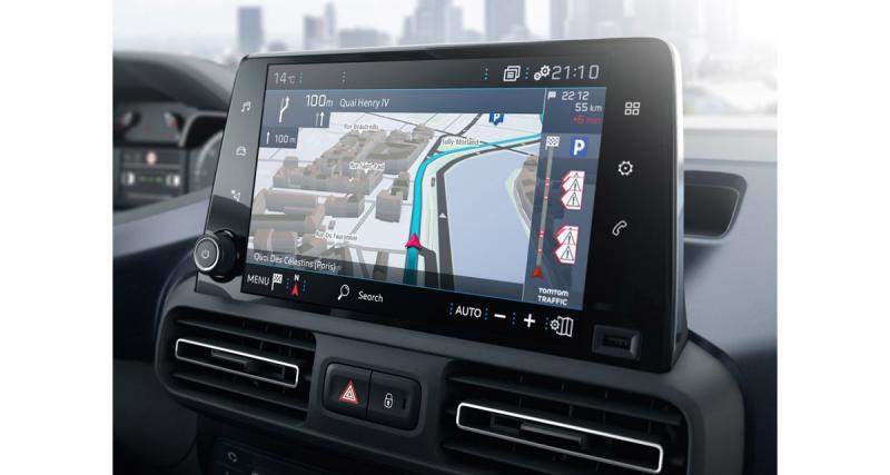 Le Peugeot Rifter reçoit un système multimédia avec écran tactile de 8 pouces