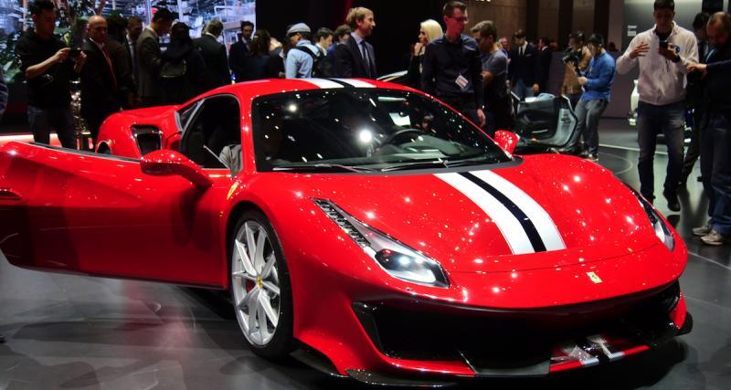 Salon de Genève 2018 : Ferrari 488 Pista, la course dans le sang (photos et vidéo)