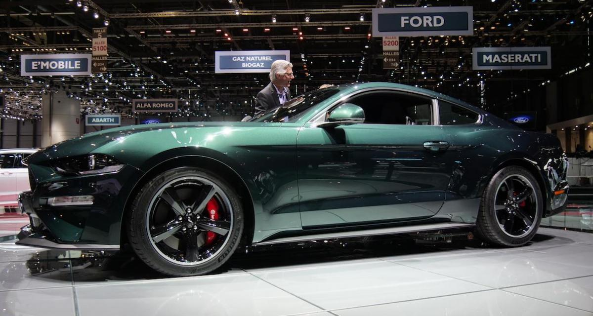 salon de gen ve 2018 nos photos de la ford mustang bullitt. Black Bedroom Furniture Sets. Home Design Ideas