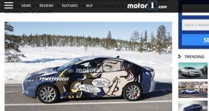 La future Ford Focus s'offre une BD en guise de camouflage
