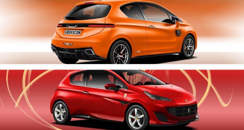 La Peugeot 208 mixée avec une Ferrari et une McLaren