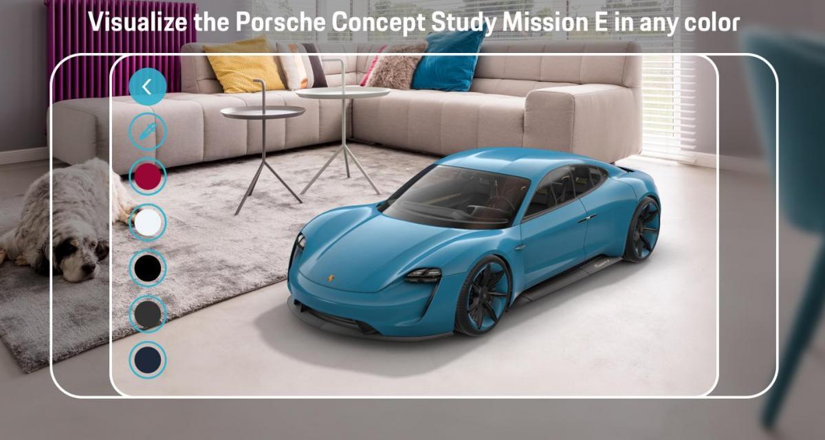 La Porsche Mission E débarque dans votre garage grâce à la réalité augmentée