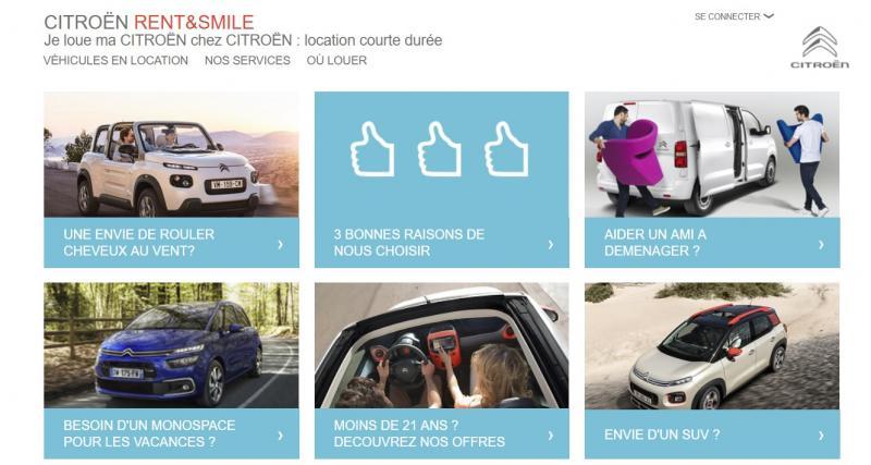 Rent&Smile : la location courte durée selon Citroën