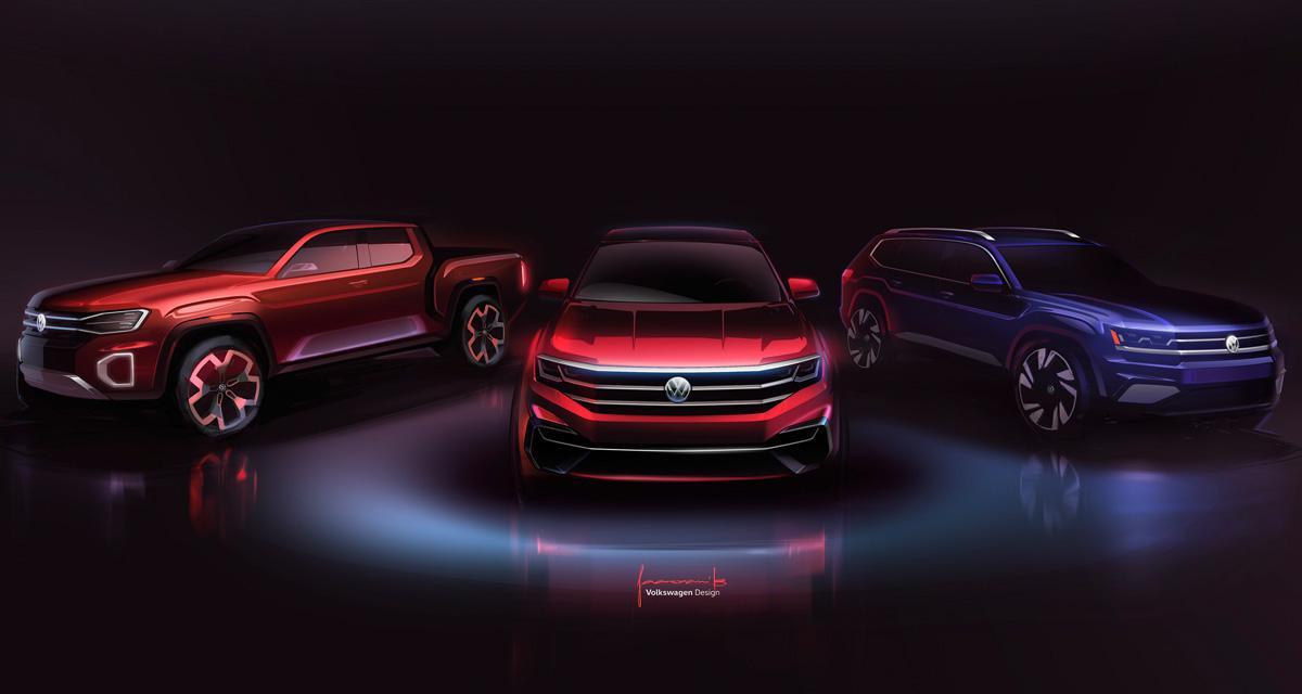 Volkswagen Atlas Cross Sport et Tanoak : un SUV hybride et un pickup pour les américains
