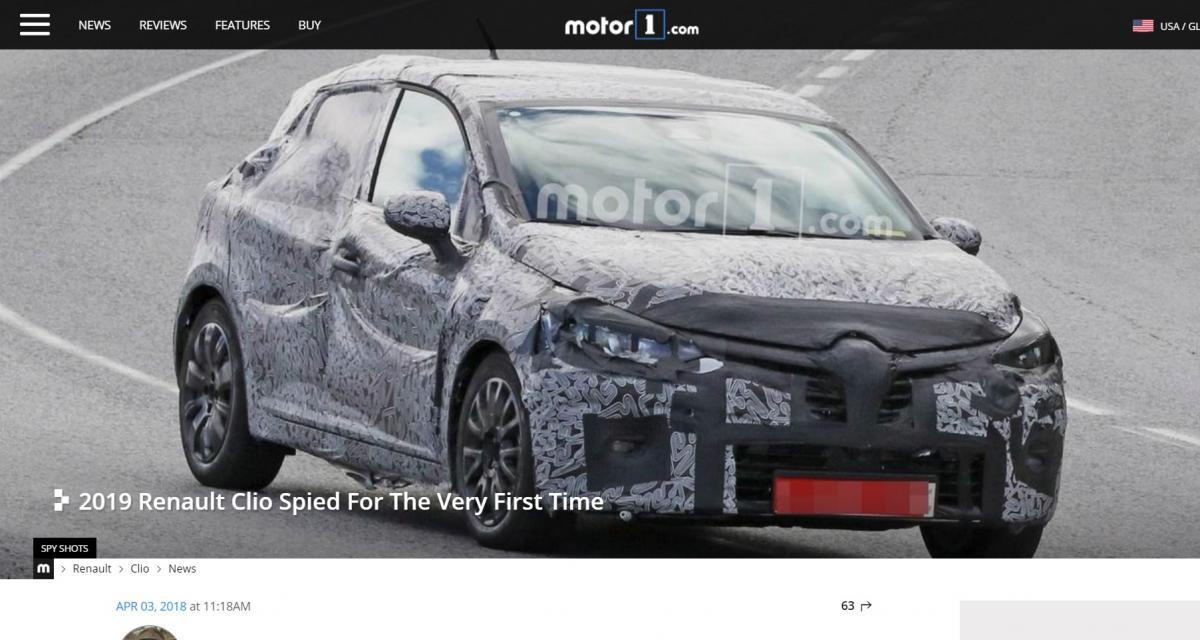 La Renault Clio 5 aperçue pour la 1ère fois