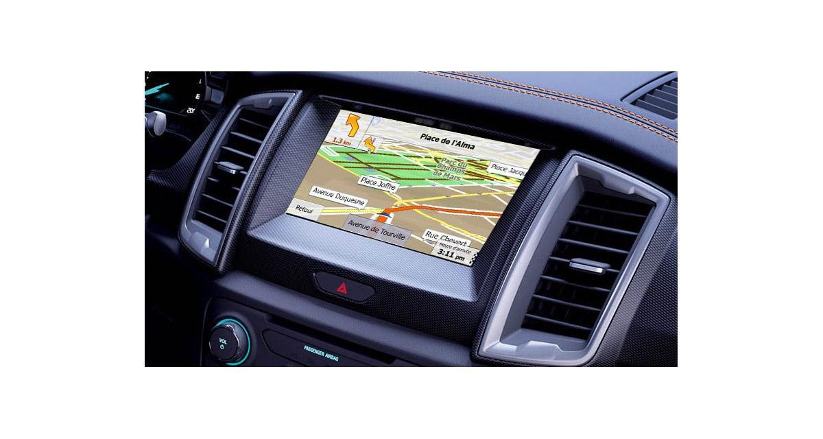 Mela commercialise une interface « plug and play » pour rajouter la navigation, sur les Ford avec système Sync3