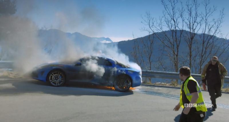 Top Gear dévoile la vidéo de l'incendie de l'Alpine A110