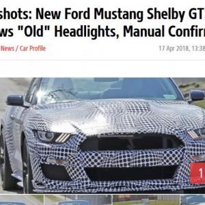 La Ford Mustang Shelby GT500 aperçue en prototype