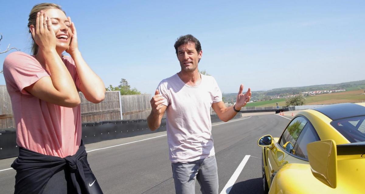 Maria Sharapova malmène Mark Webber en Porsche 911 GT2 RS