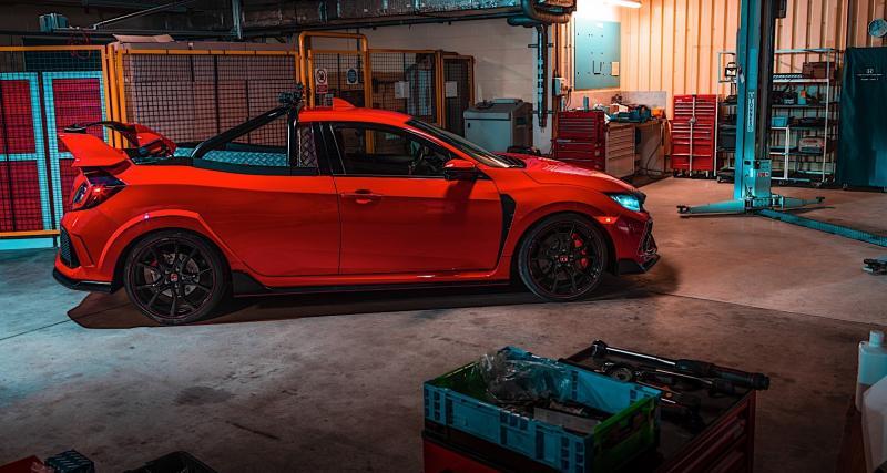Honda Civic Type R pickup : un projet fou mené à bien