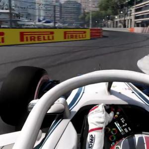 Le jeu F1 2018 se dévoile avec un tour du GP de Monaco