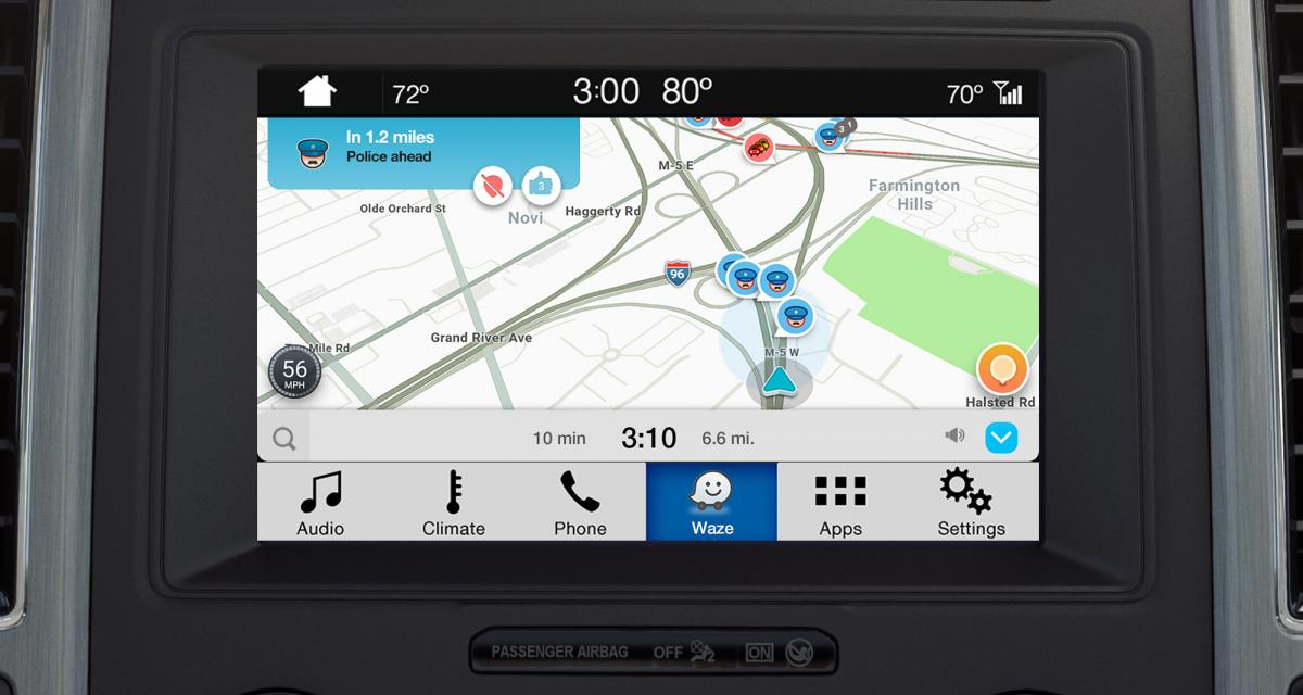 waze pour iphone compatible ford sync. Black Bedroom Furniture Sets. Home Design Ideas