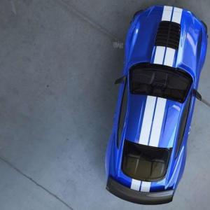 La future Ford Mustang Shelby GT500 vue du dessus
