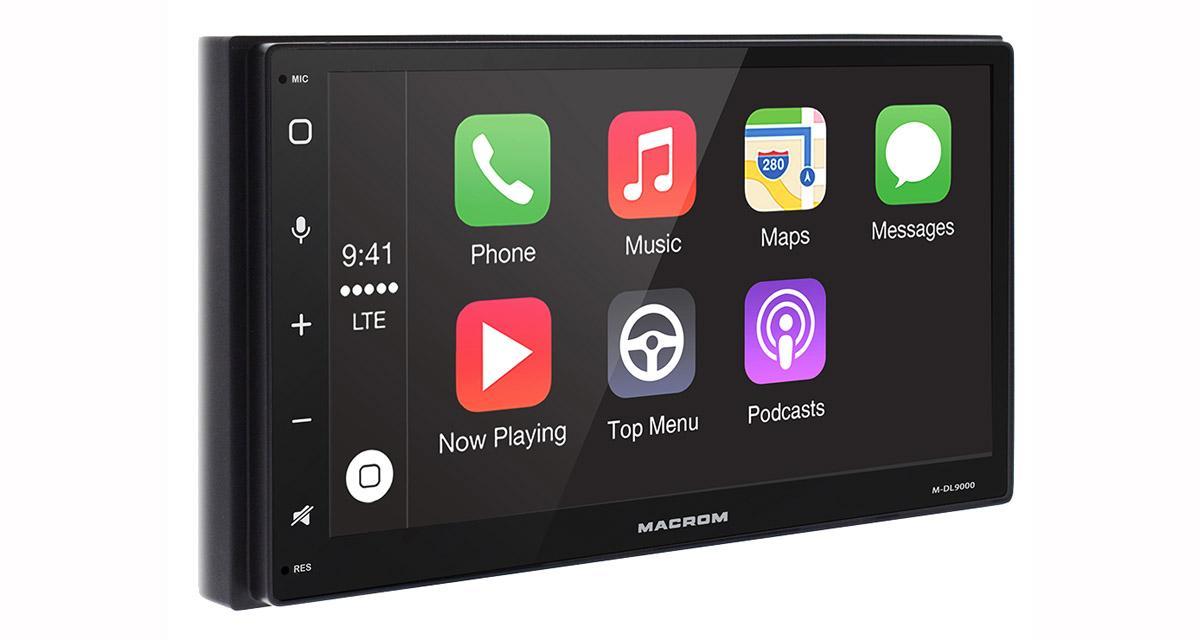 Un autoradio CarPlay et Android Auto chez Macrom