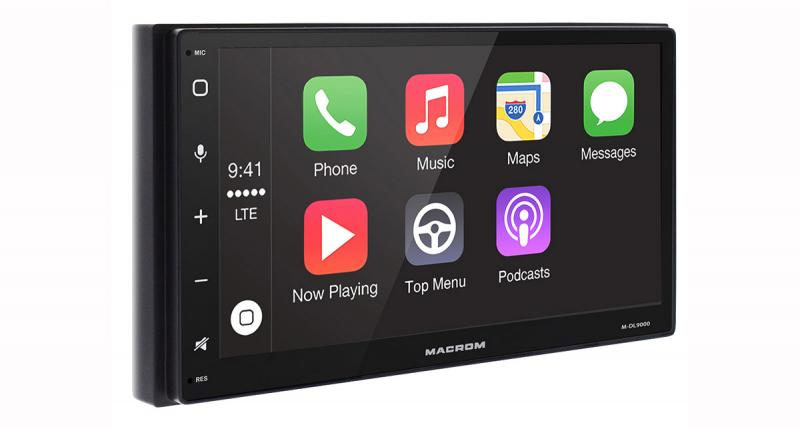 Un autoradio CarPlay et Android Auto chez Macrom