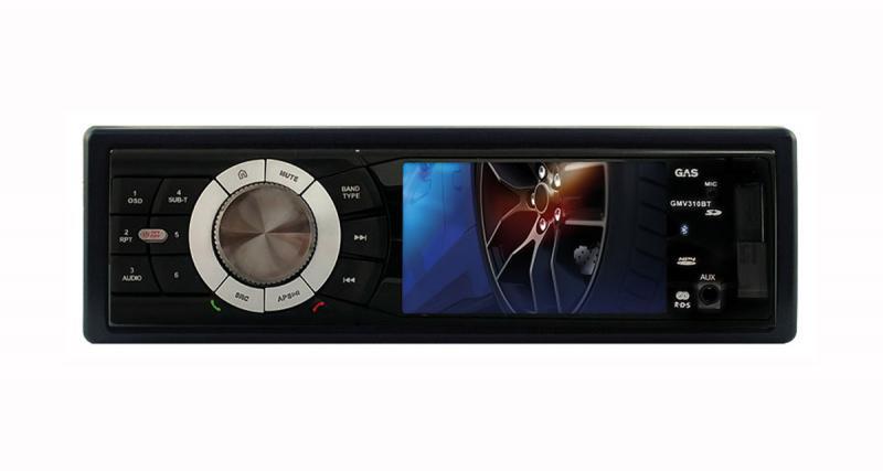 Un autoradio avec écran vidéo de 3 pouces en façade chez GAS Car Audio