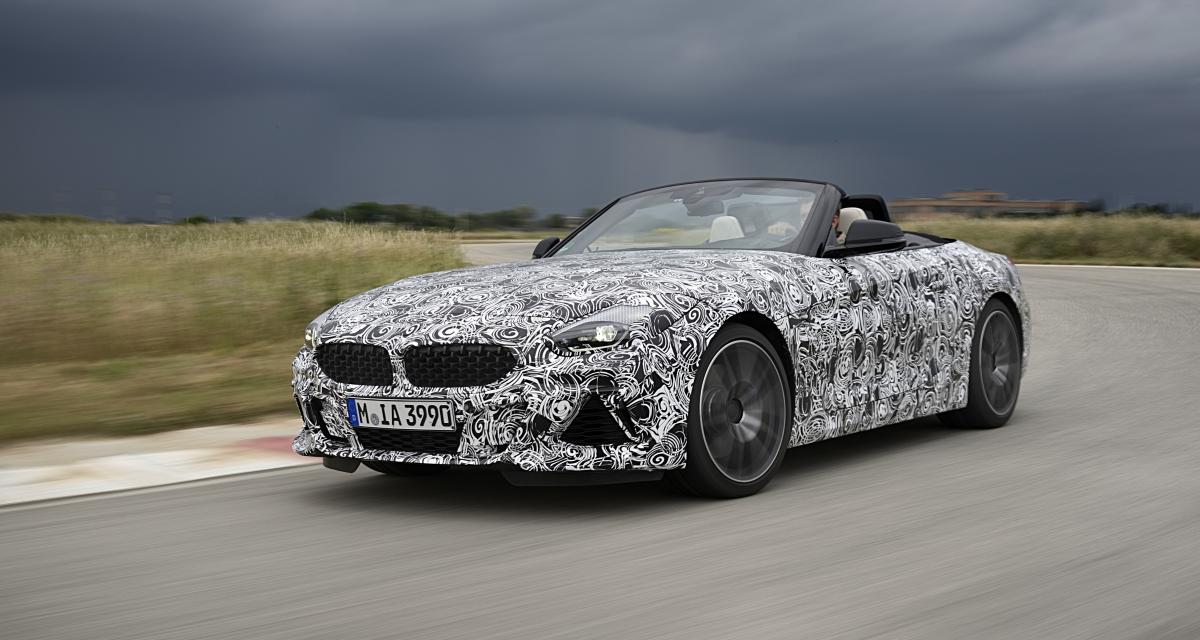 BMW Z4 2018 : le prototype photographié en France