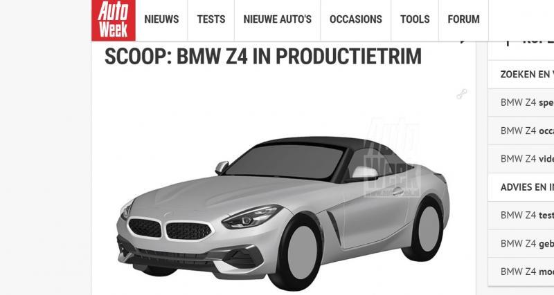 BMW Z4 : les brevets dévoilent la version de série