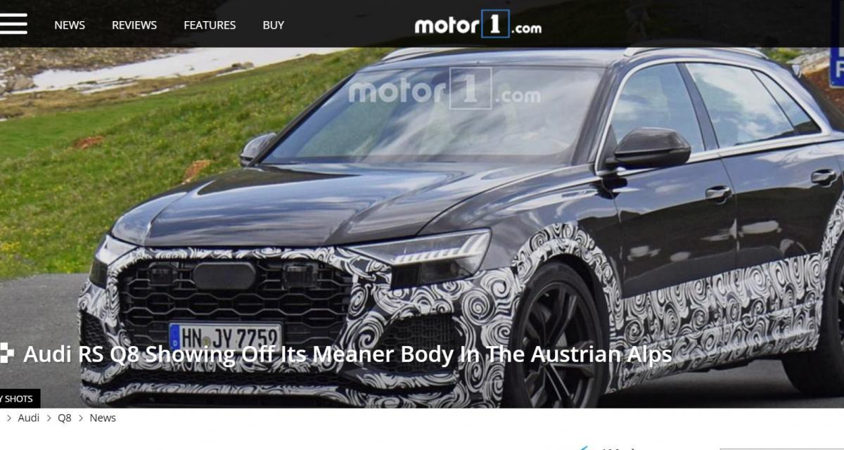 Audi RS Q8 : le prototype déjà sur la route