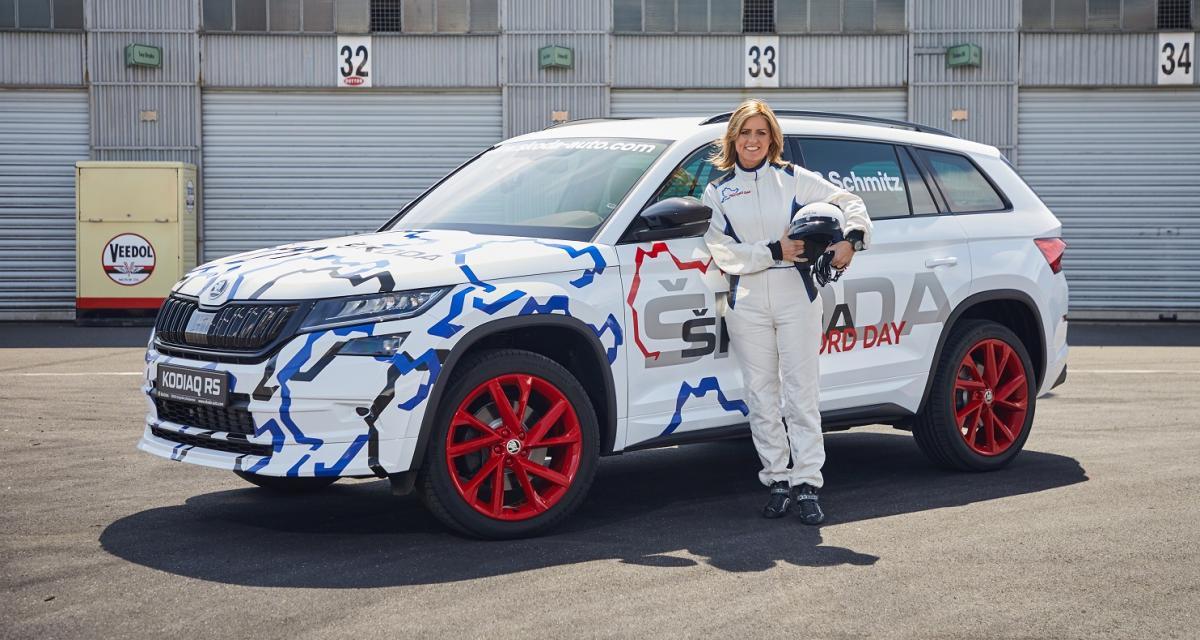 Skoda Kodiaq RS : le vrai-faux record en vidéo