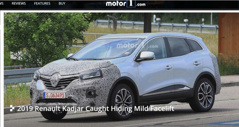 Le restylage du Renault Kadjar est imminent