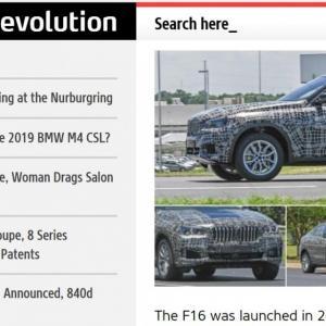 Le BMW X6 2019 aperçu pour la première fois