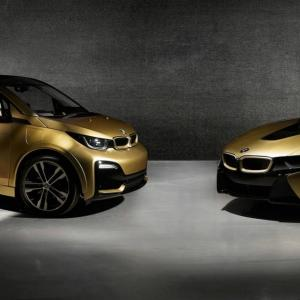BMW i8 et i3s Starlight Edition : de l'or 24 carats dans la peau