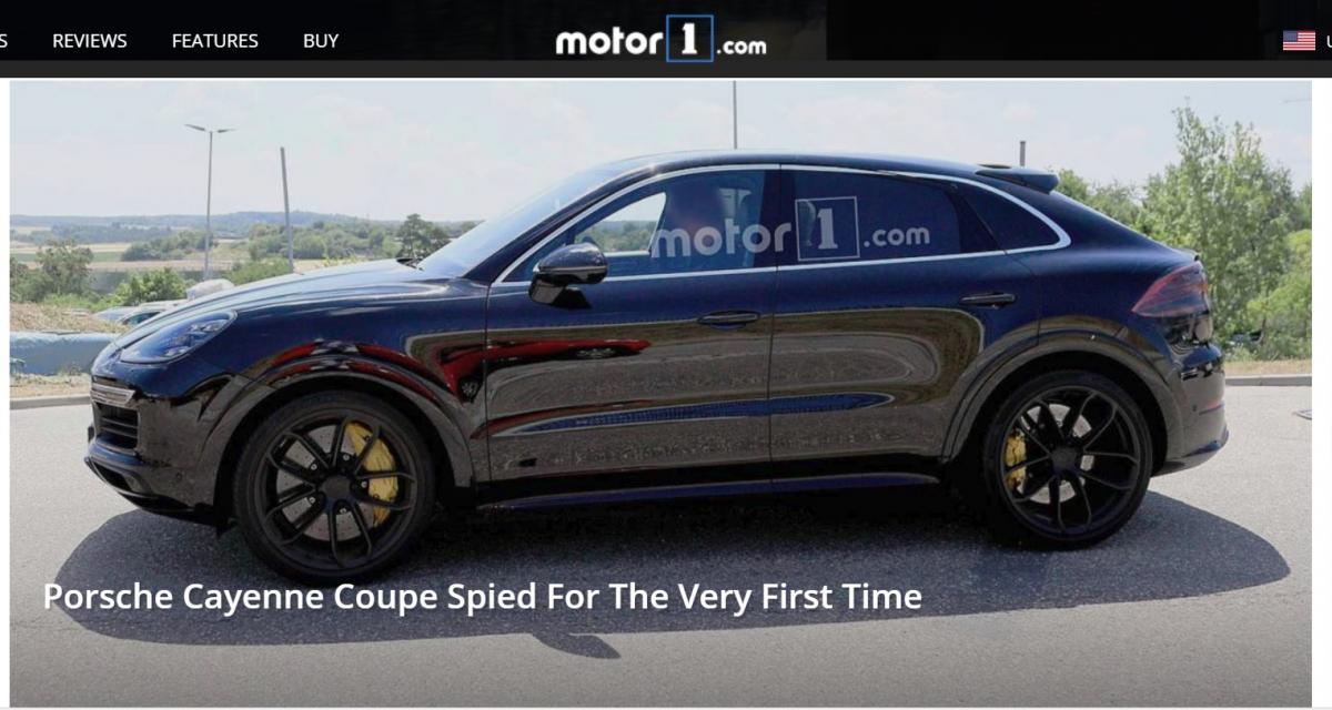 Le Porsche Cayenne Coupé vu pour la toute première fois