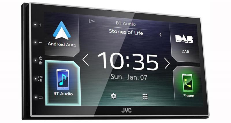 JVC commercialise un autoradio multimédia avec CarPlay et Android Auto