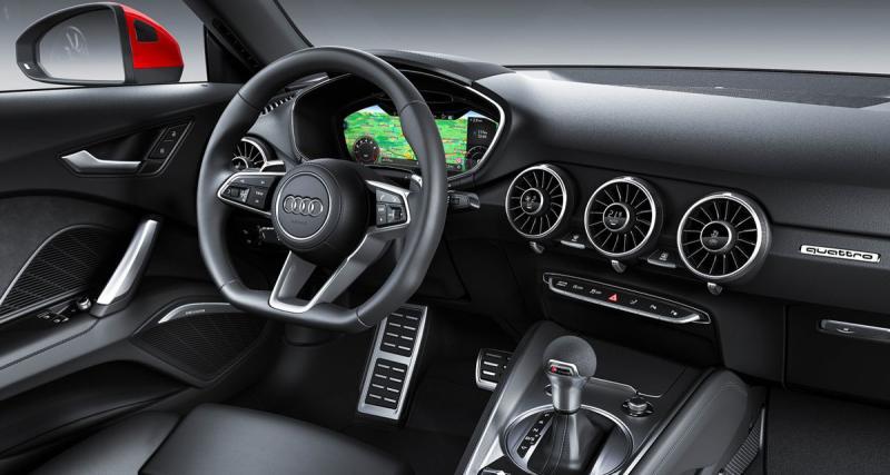 La nouvelle Audi TT adopte un système multimédia high-tech sans écran au centre du tableu de bord